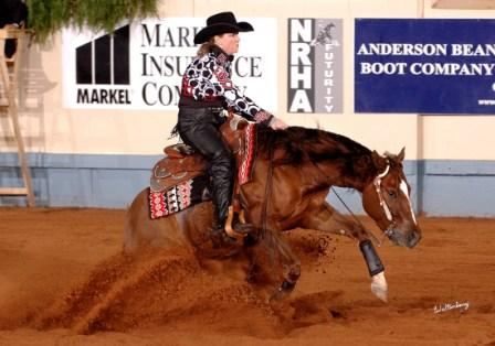 2009 NRHA Non Pro Futurity Go-Round Leader with a 218.5!